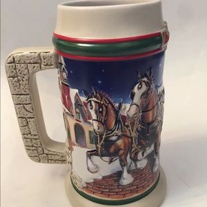 Budweiser Holiday Stein 1998 Grants Farm Holiday